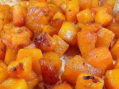 Roasted, cubed butternut squash